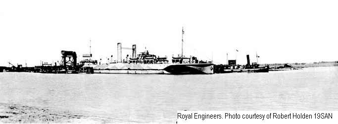 19SAN - Richborough Port - Docks from afar