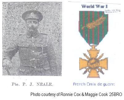 25BRO - Private Percy Neale