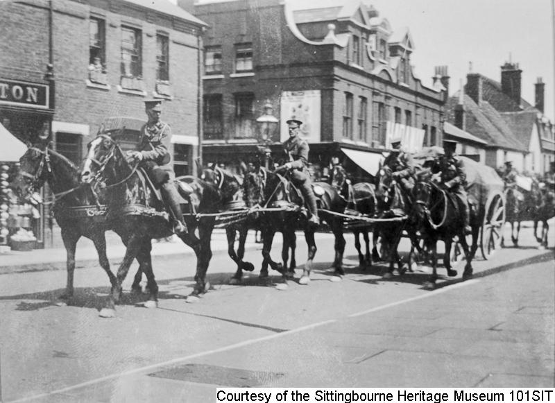 101SIT - Mounted troops & transport in Sittingbourne High Street