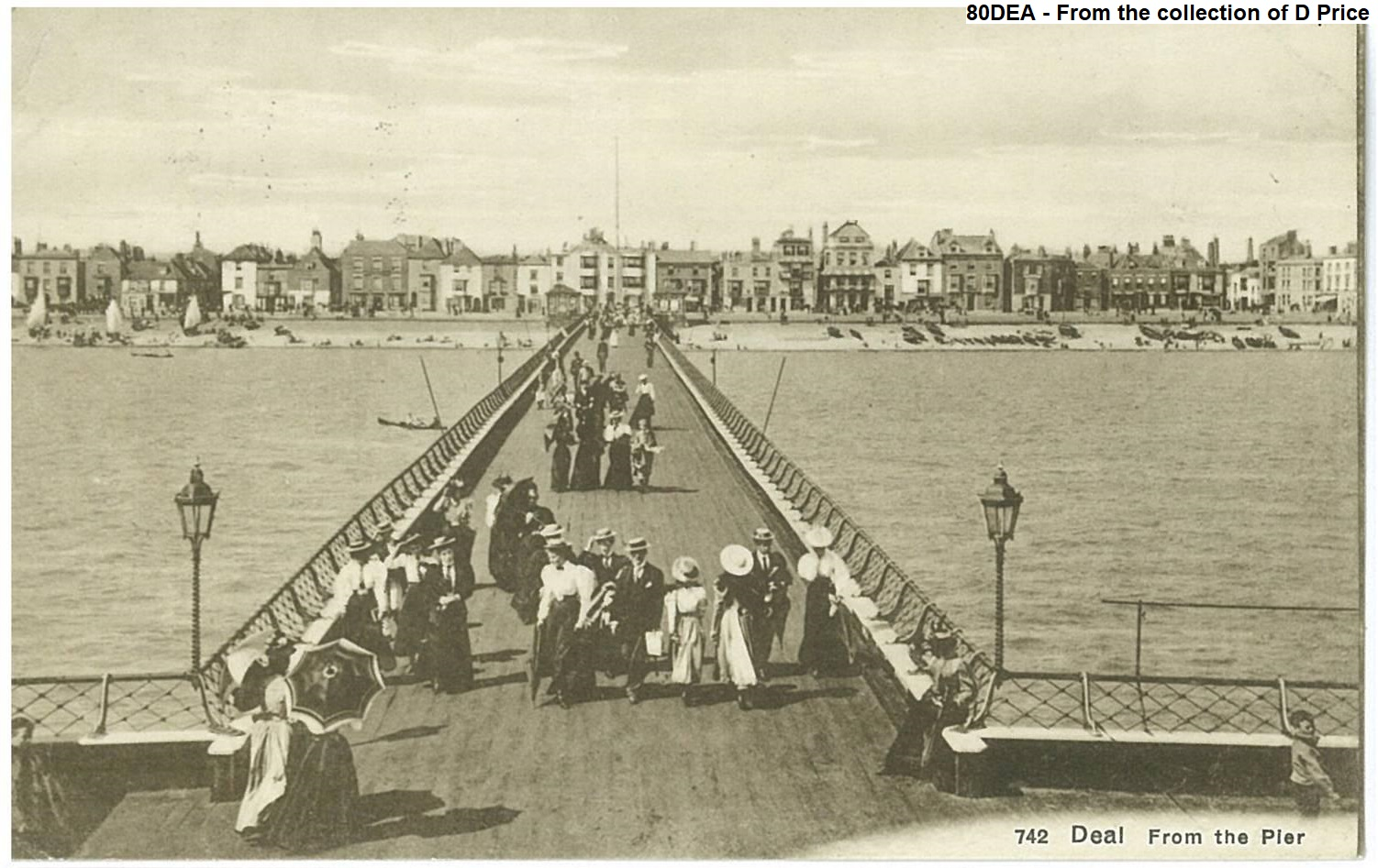Deal Pier Postcard Holiday 1915