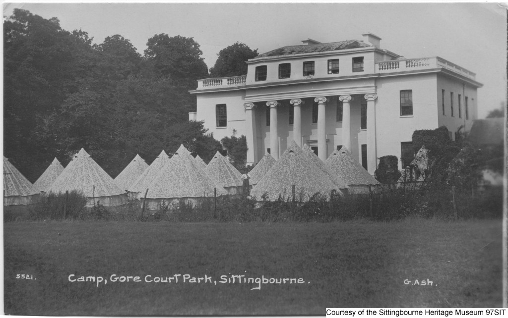97SIT - RAMC camp at Gore Court Park, Sittingbourne, probably 1916