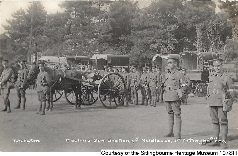 107SIT – Machine Gun section – 9th Middlesex, Sittingbourne 1914