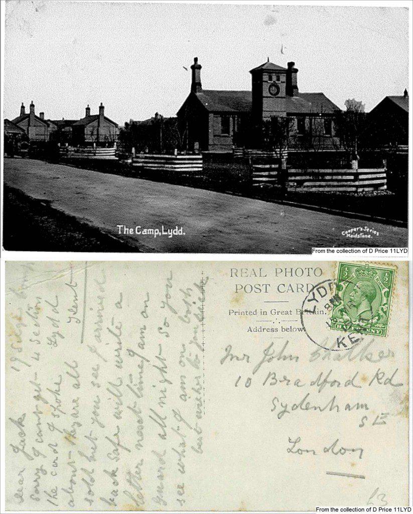 11LYD-Lydd-Camp-Main-Gate-Postcard