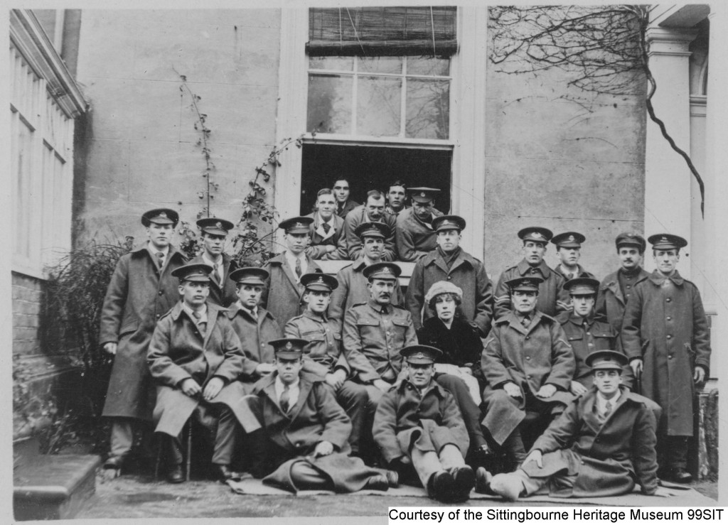 99SIT - Madame Honeyball at Whitehall Hospital (Bell Road, Sittingbourne) with invalid Belgic Soldiers