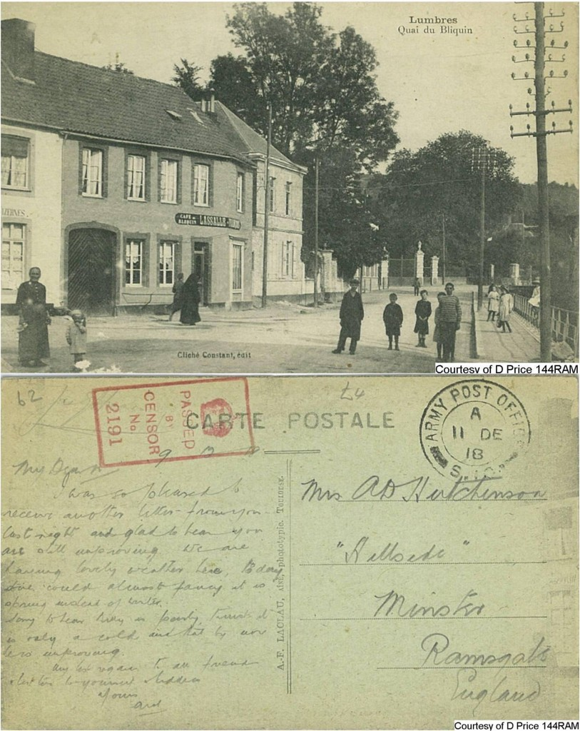 144RAM - Mrs Hutchenson (Postcard) (Front & Back)