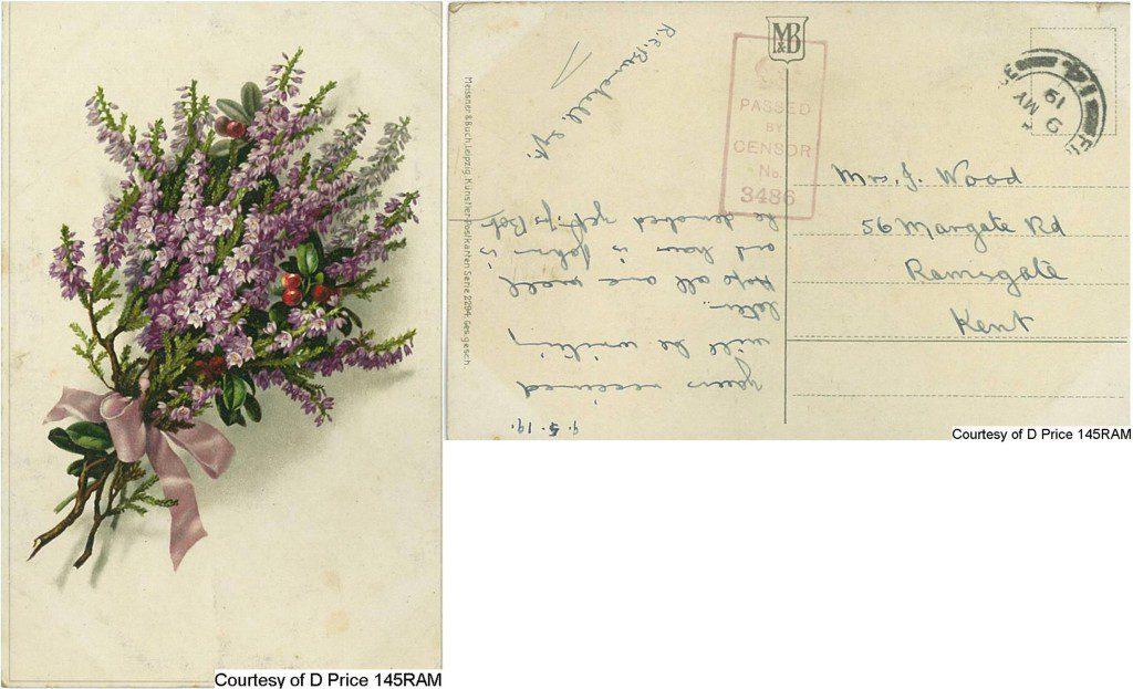 Mrs Wood (Postcard) (Front & Back)