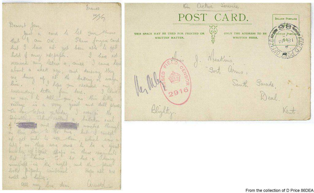 86DEA - Arnold's Postcard (Front & Back)