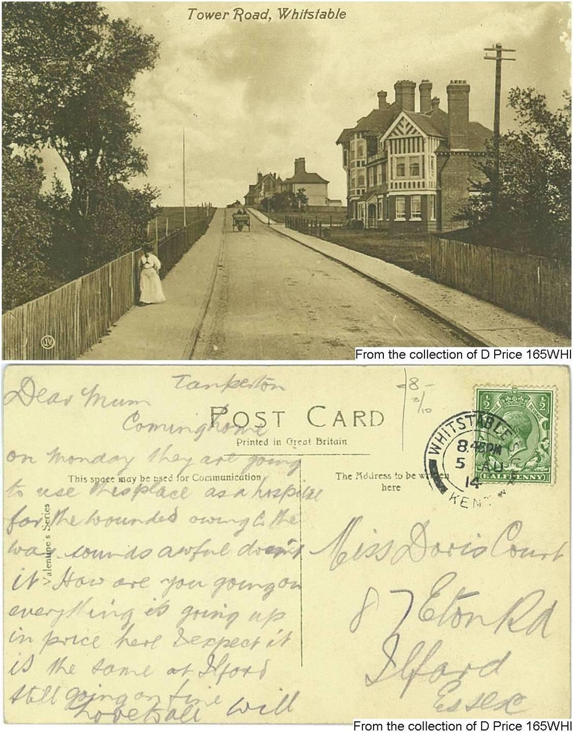 165WHI - Miss D Court (Postcard) (Front & Back)