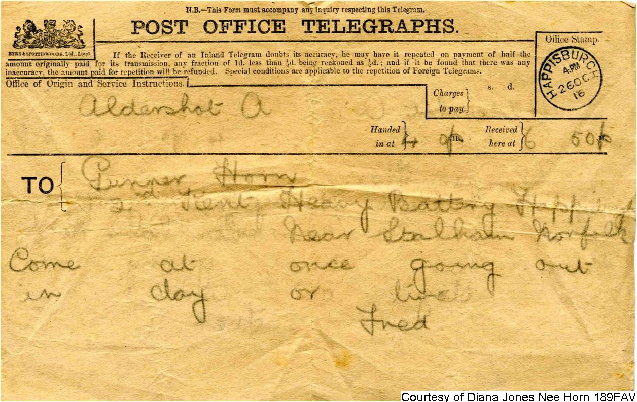 189FAV - A Telegram To George