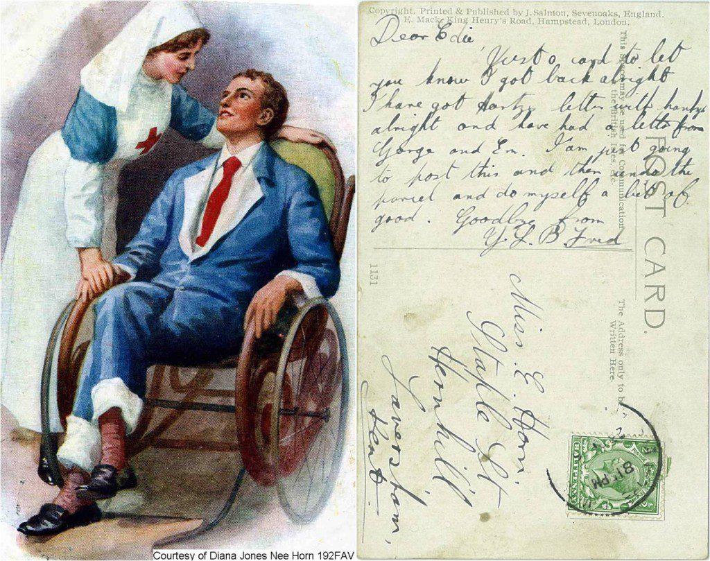 192FAV - Nurse Postcard (Front & Back)