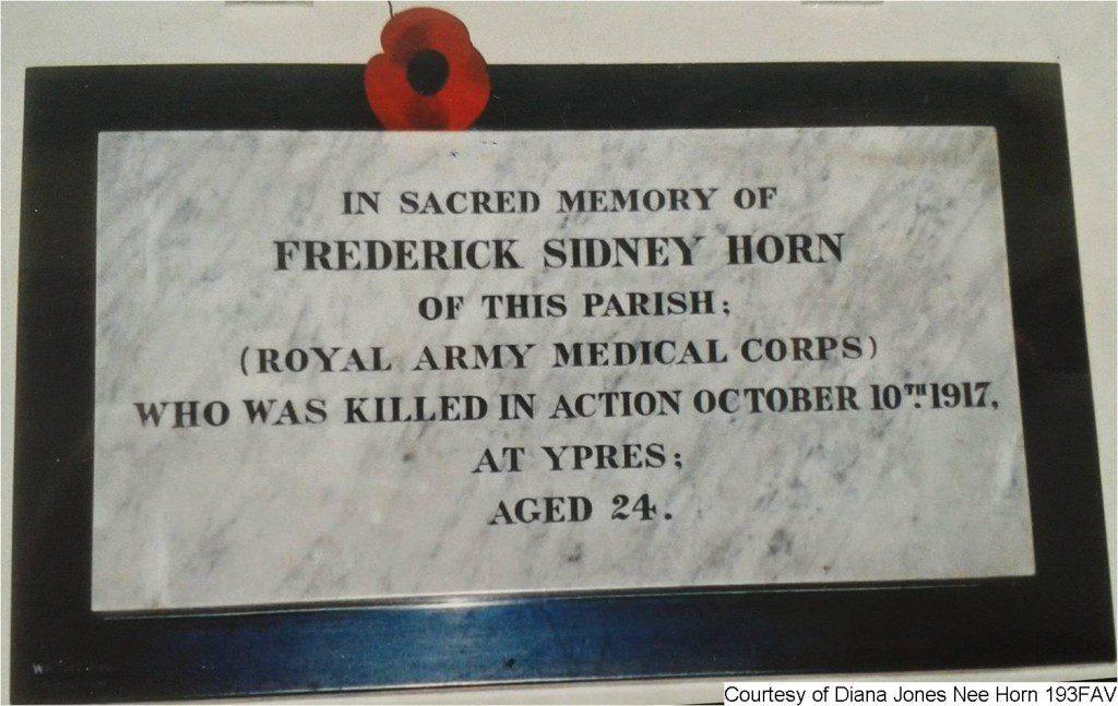 193FAV - Frederick Sidney Horn Memorial