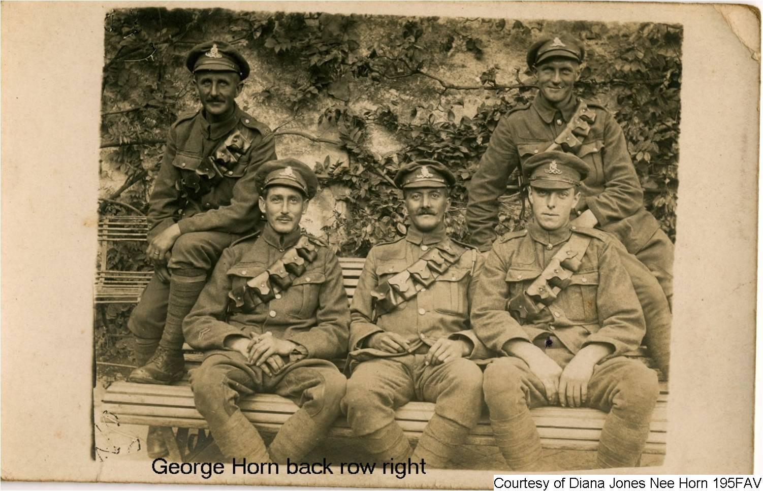 195FAV - George Horn with the Garrison Artillery
