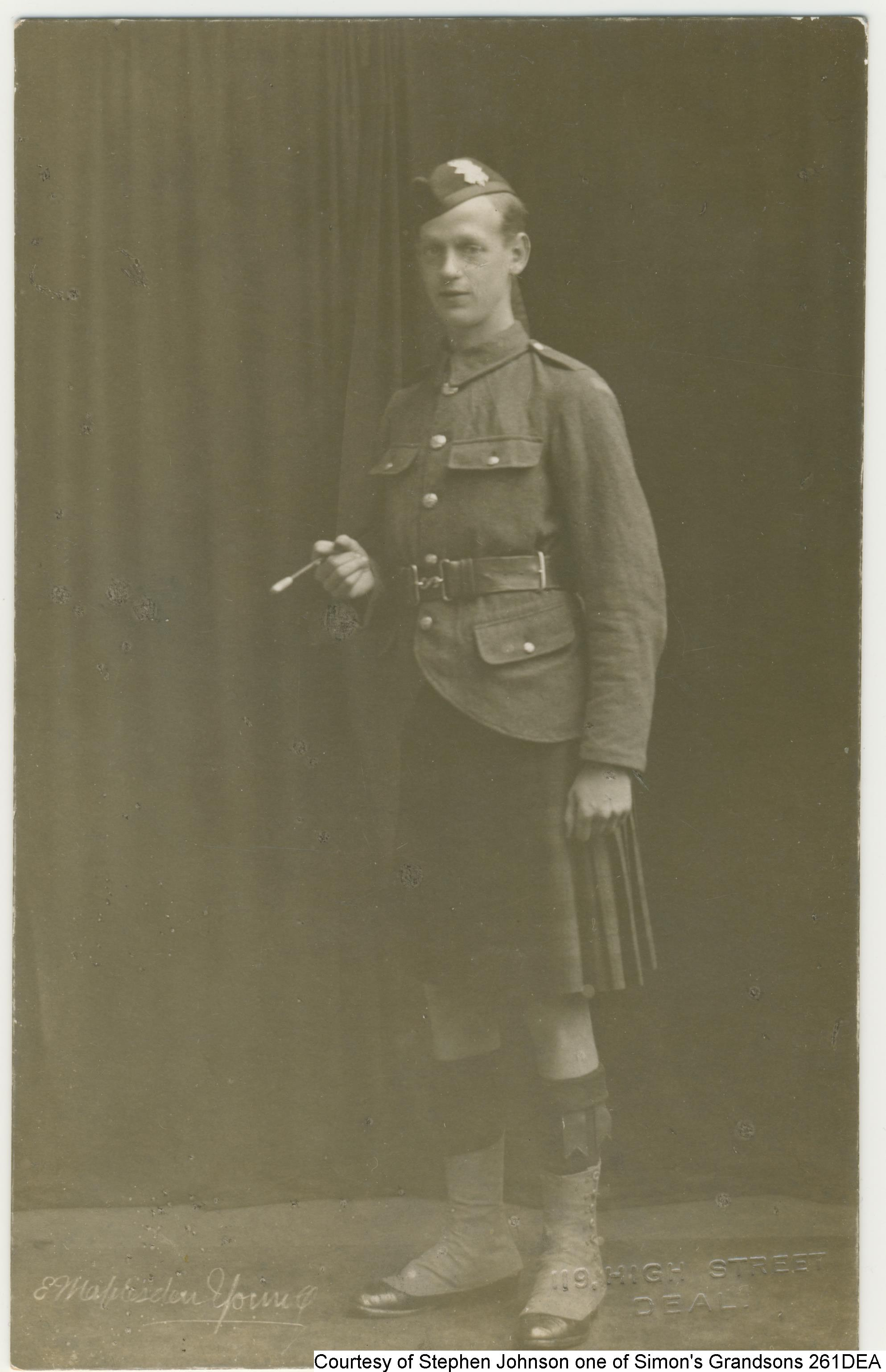 261DEA - Simon Forbes, Highland Light Infantry