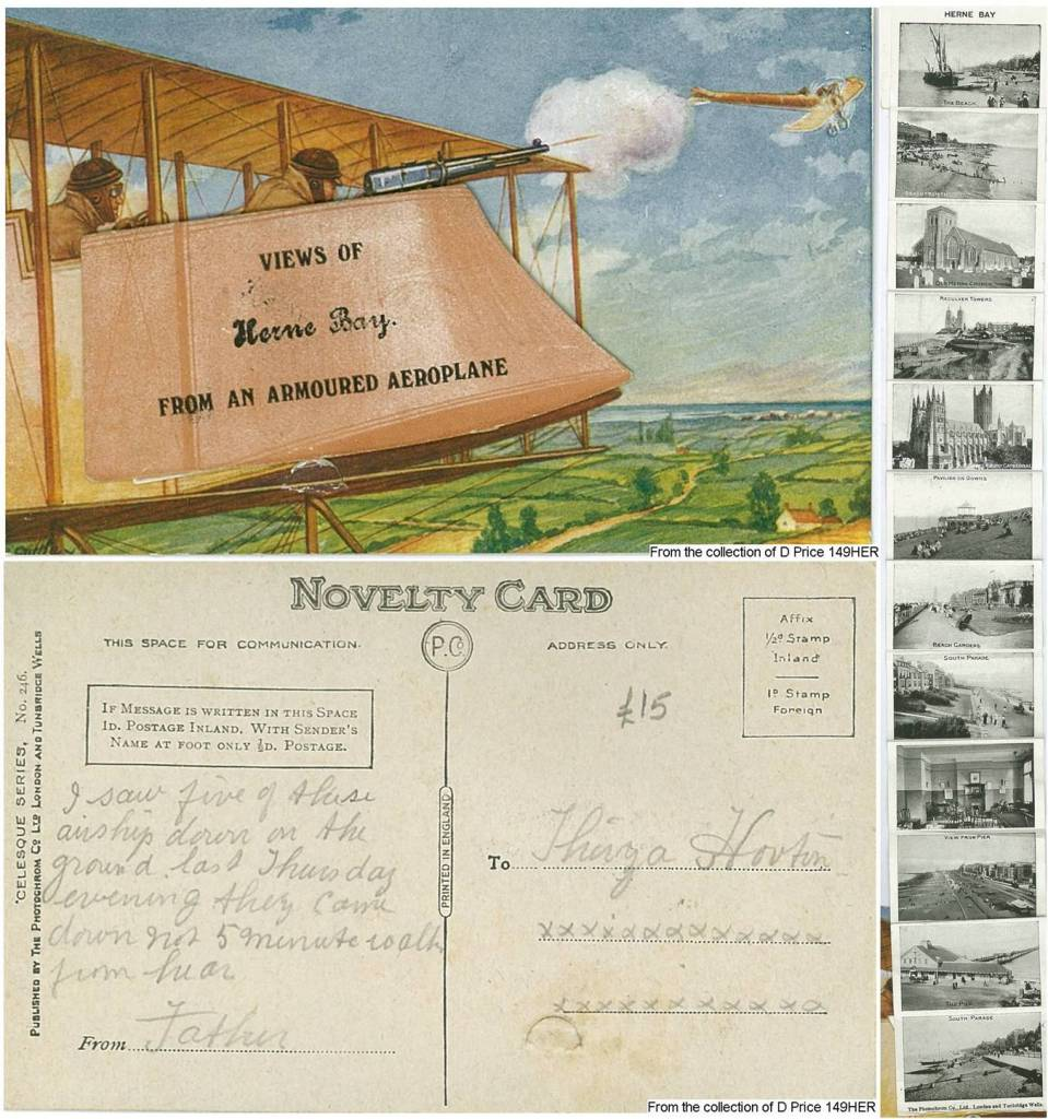 149HER - Views of Herne Bay (Postcard) (Front & Back)