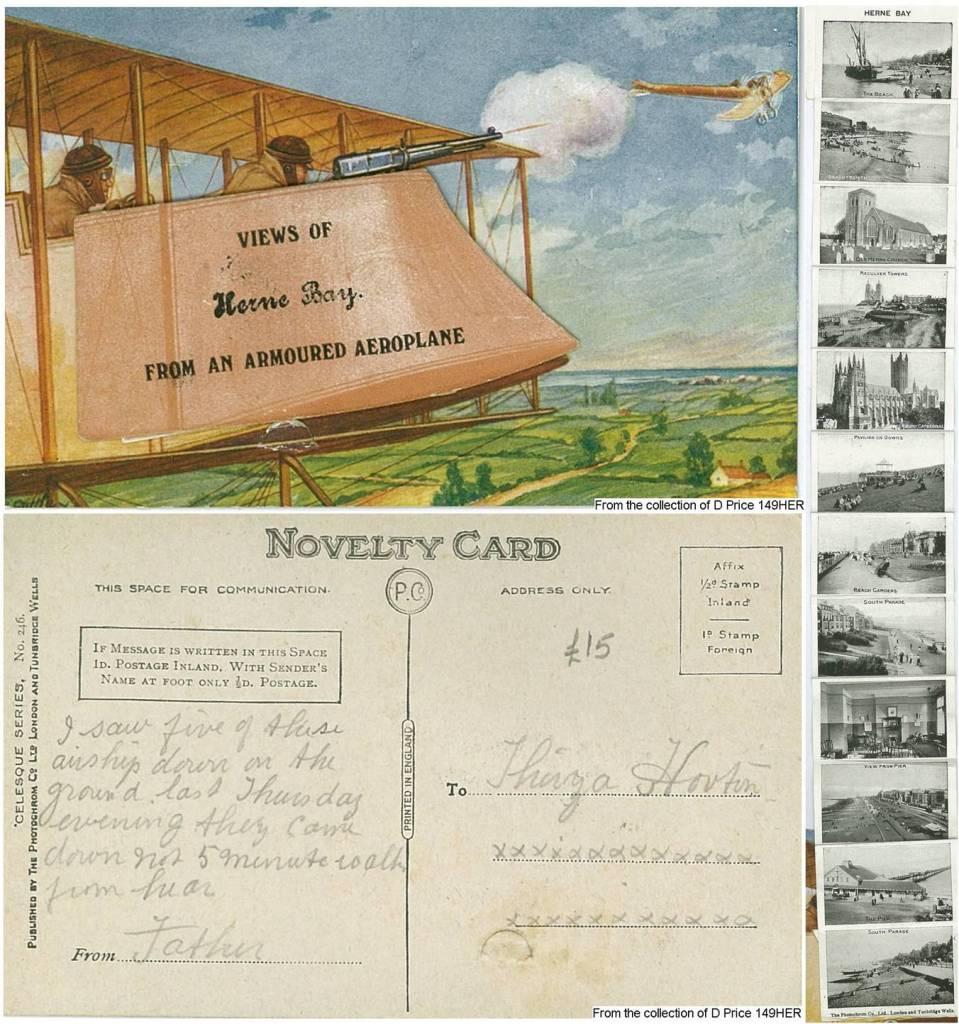 149HER - Views of Herne Bay (Postcard) (Front & Back)