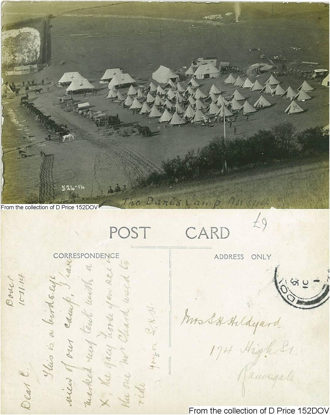 152DOV - Camp (Postcard) (Front & Back)