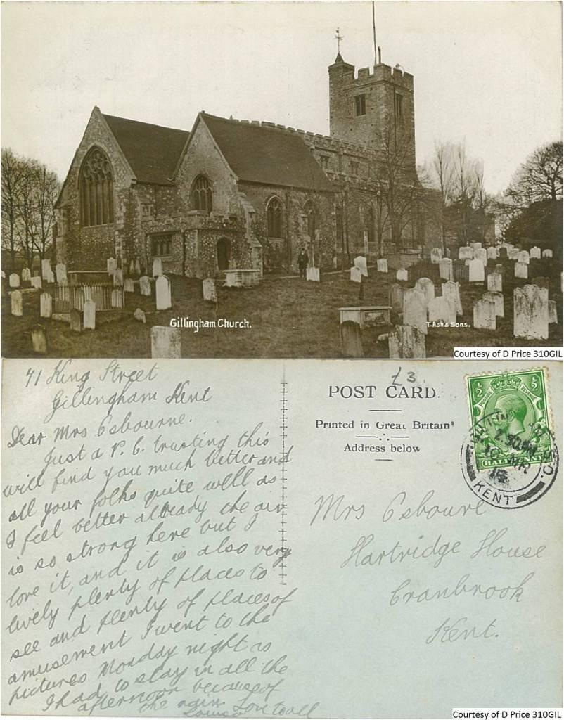 310GIL - St Mary Magdalene Church, Gillingham (Front & Back)