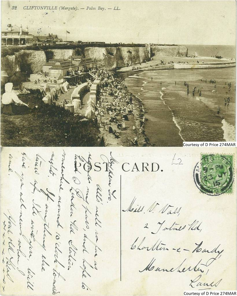 274MAR - Cliftonville - Palm Bay (Front & Back)