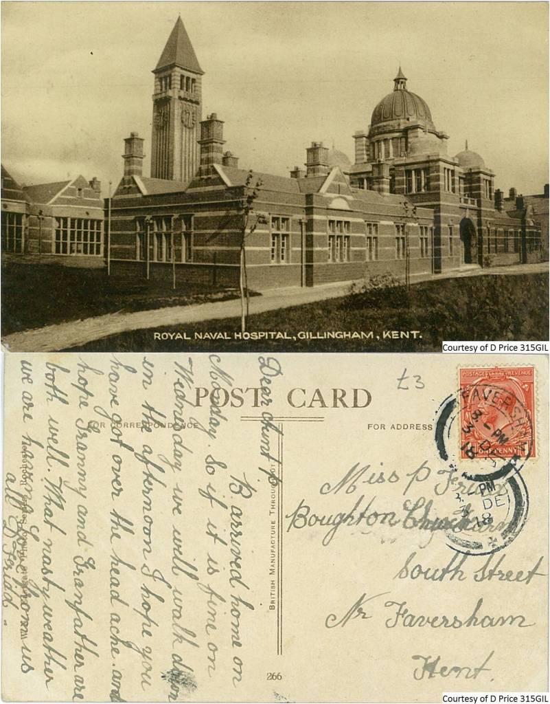 315GIL - Royal Naval Hospital (Front & Back)