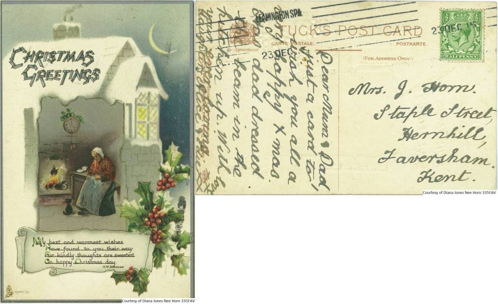335FAV – Christmas Greetings (Front & Back)