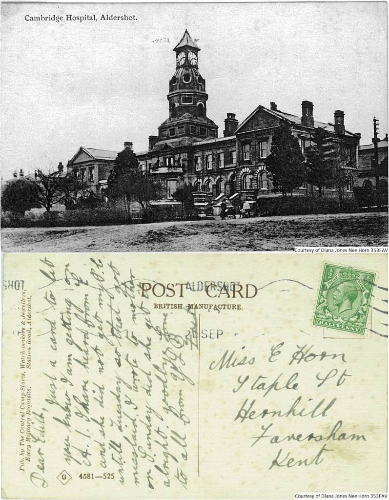 353FAV – Cambridge Hospital, Aldershot (Front & Back)