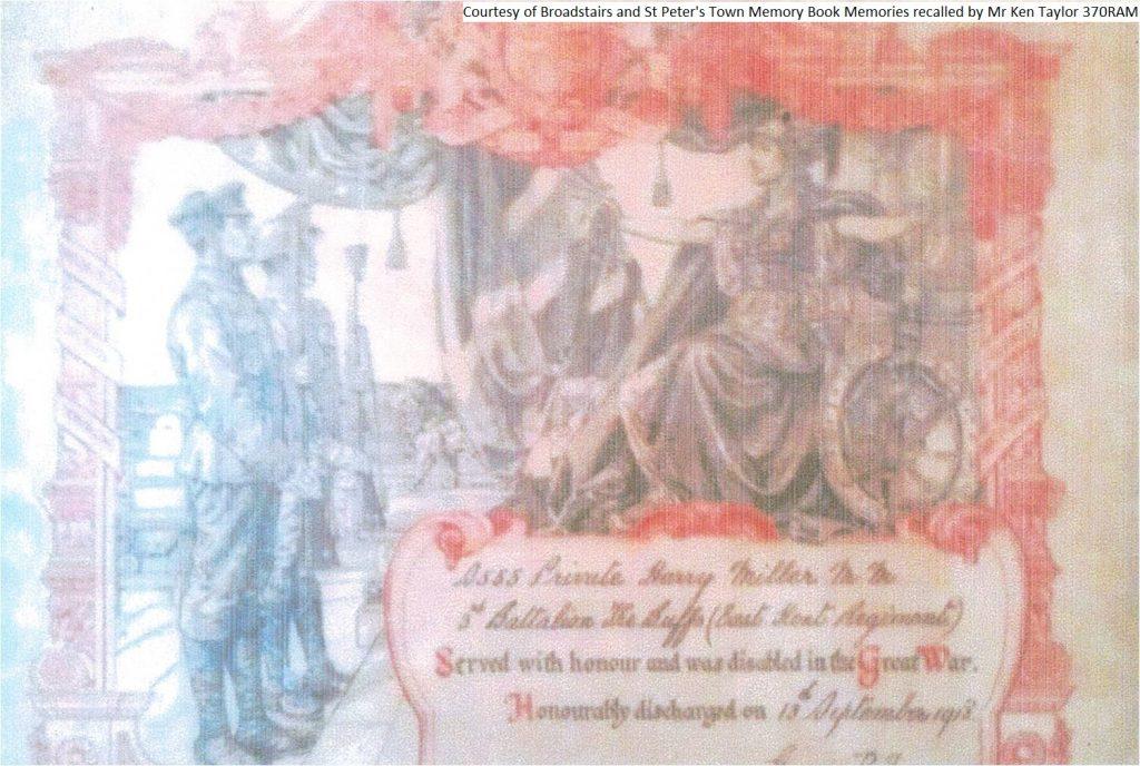 370RAM - Harry Miller - Hounourably Discharged Certificate (Full)