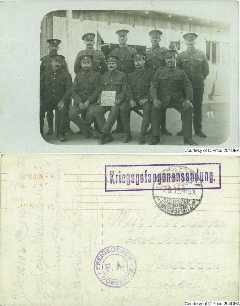 204DEA - Sgt Burton (POW) (Front & Back)