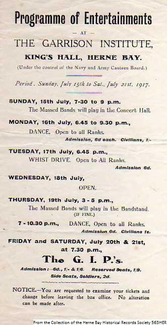 563HER - WW1 - Entertainment 1917 2