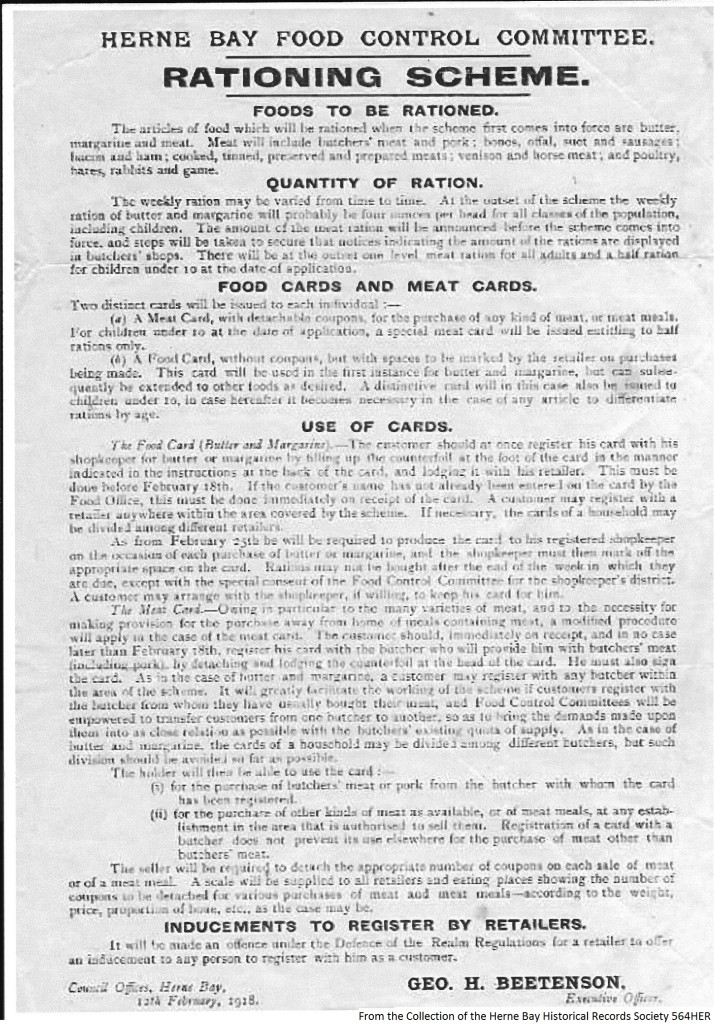 564HER - WW1 - Food Rationing 2