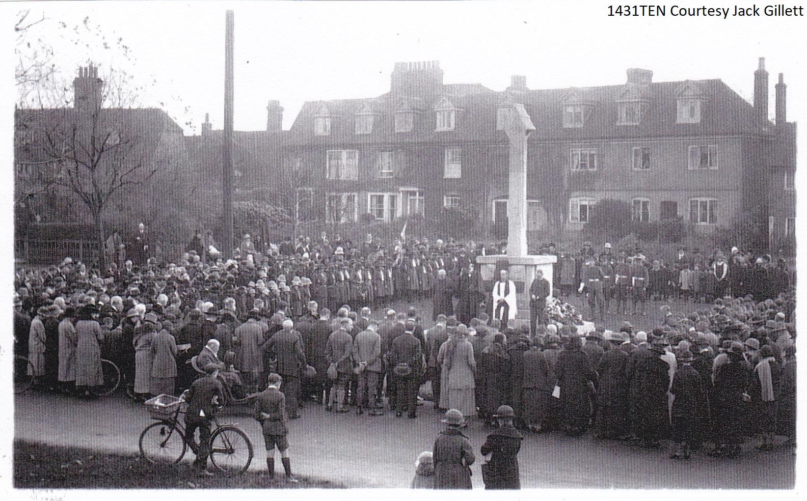 Unveiling of the War Memorial