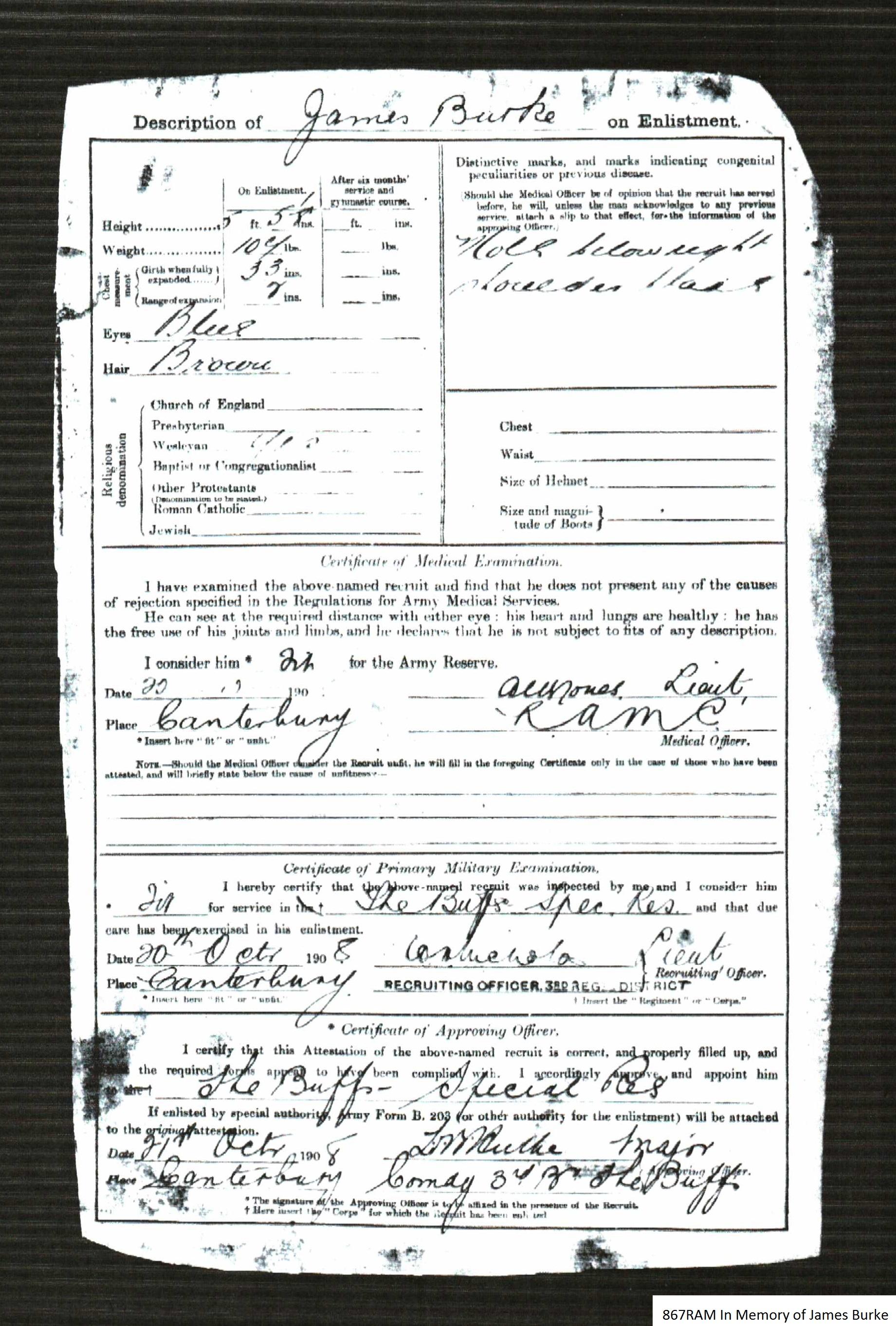 James Burke's Enlistment