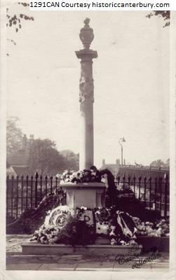Royal East Kent Yeomanry Memorial adjacent to Nason's and Foresters Hall