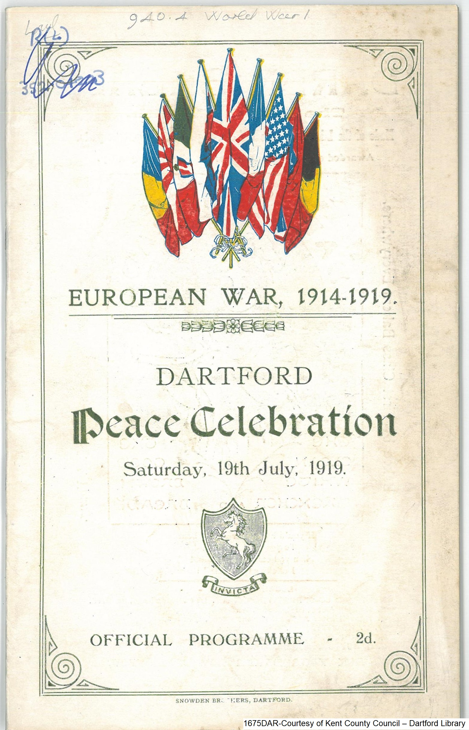 Peace Day Dartford Official Programme