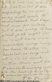 Thomas William Taylor Letter 2